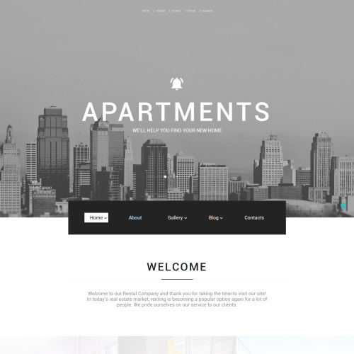Apartments - Real Estate Agency Website Template
