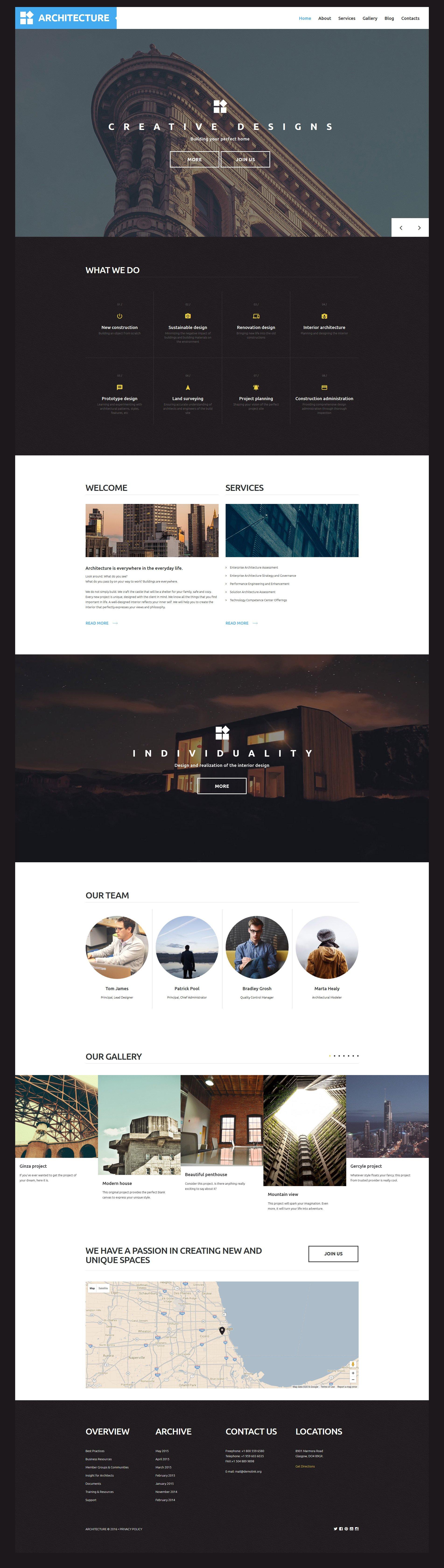 """Architecture"" Responsive WordPress thema №58705"