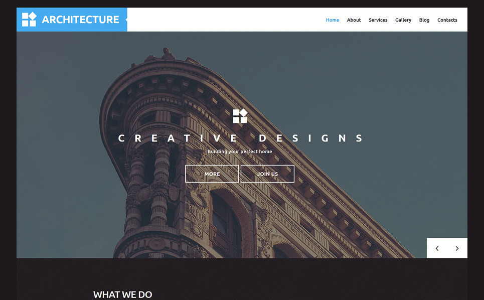 Architect wp template for Architecture wordpress