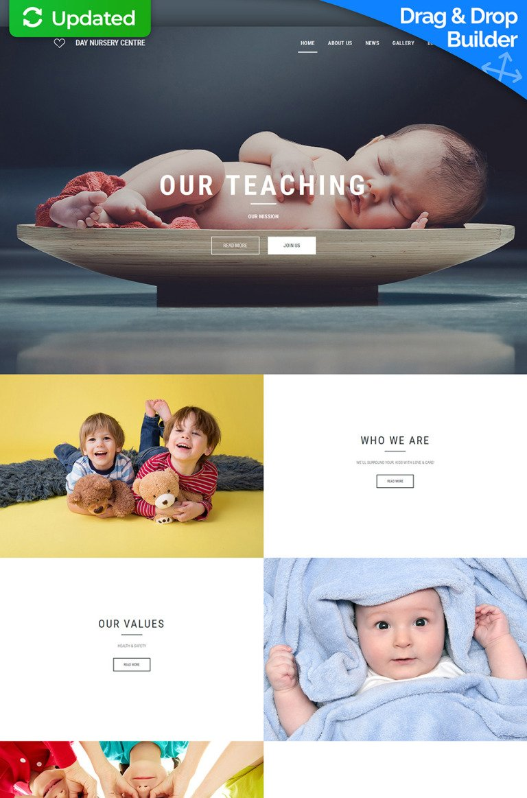 Babysitter Responsive Moto CMS 3 Template New Screenshots BIG