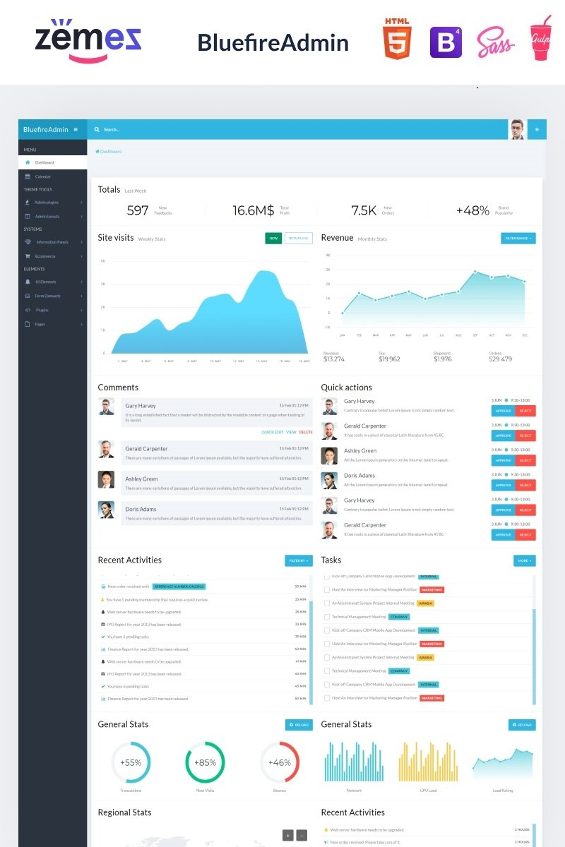 Bluefire - Multipurpose Modern Dashboard Admin Template