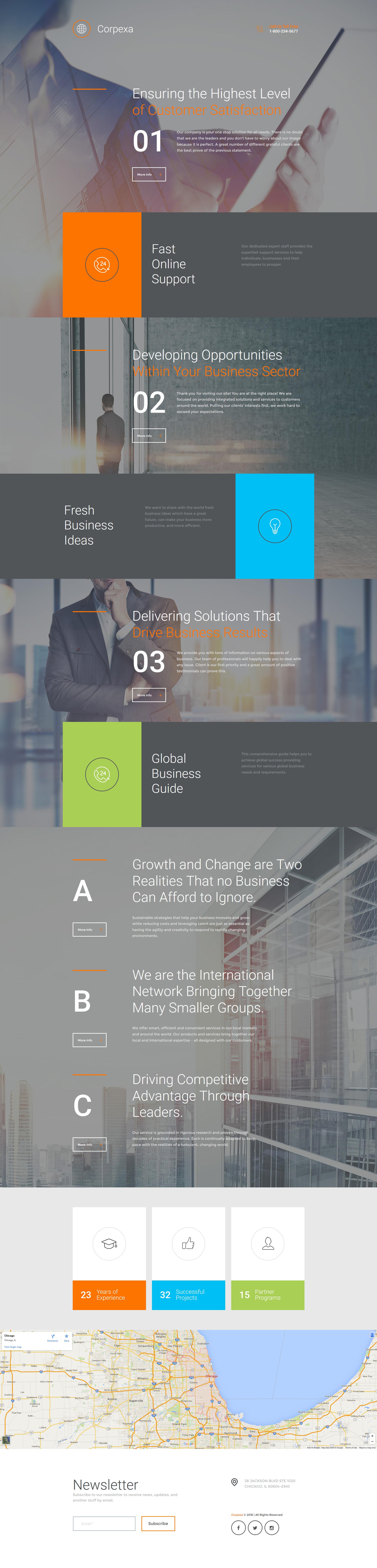 Business & Services Responsive Moto CMS 3 Template - screenshot