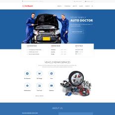 car repair shop website design template monster