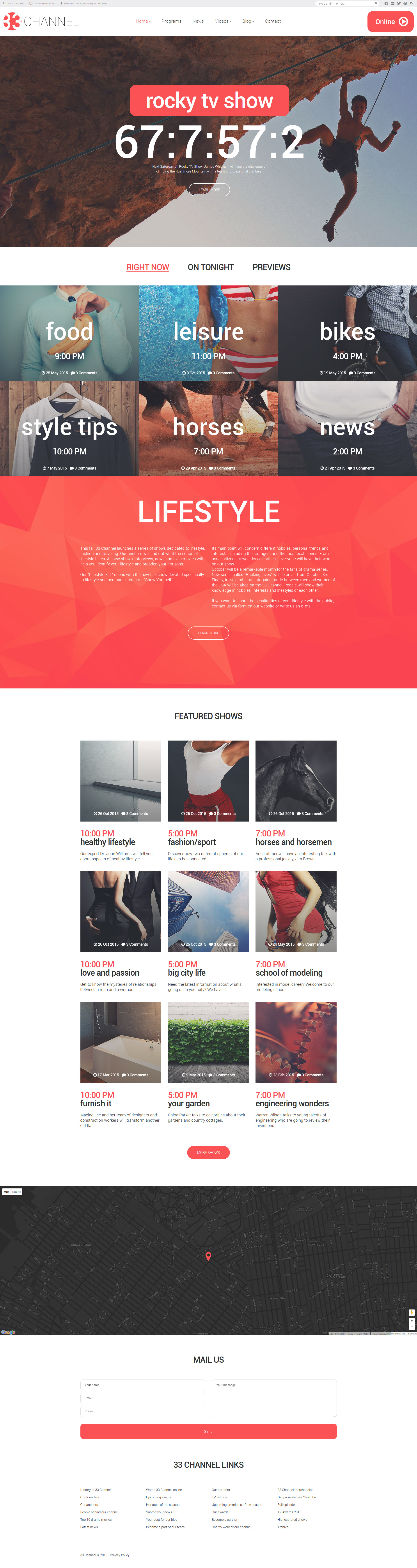 Channel Website Template