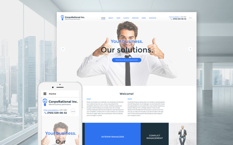 CorpoRational Inc. Website Template New Screenshots BIG