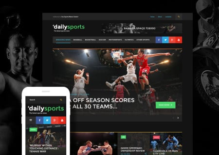Sports News Bootstrap