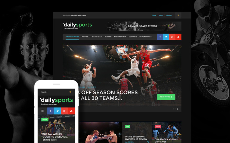 DailySports Website Template New Screenshots BIG