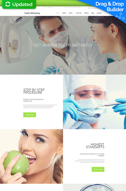 Dentistry Responsive Moto CMS 3 Template New Screenshots BIG