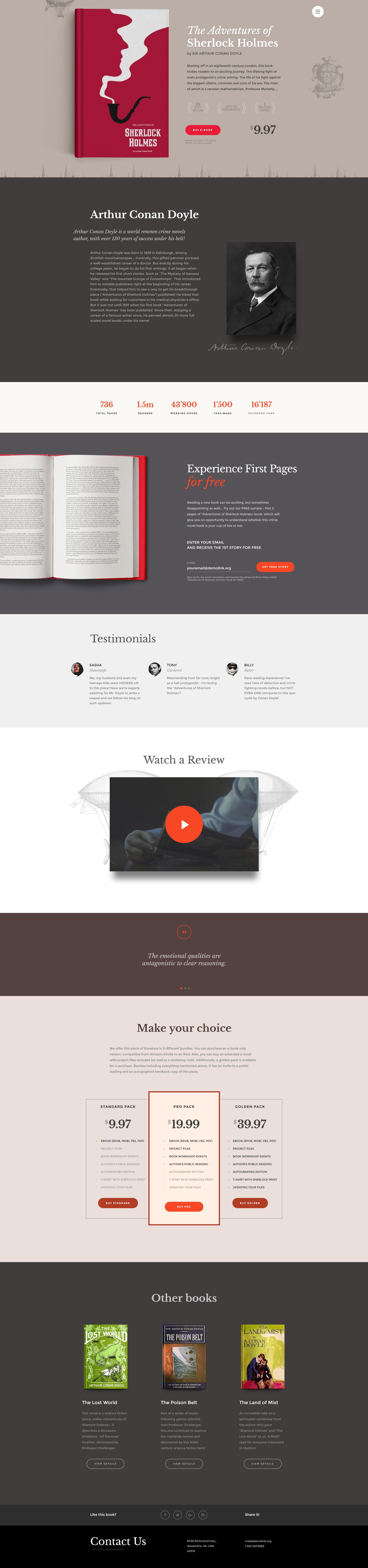 """eBooks"" Responsive Website template №58710 - screenshot"