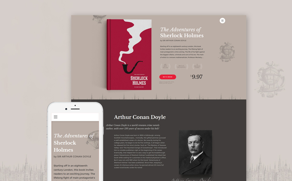 eBooks Website Template New Screenshots BIG