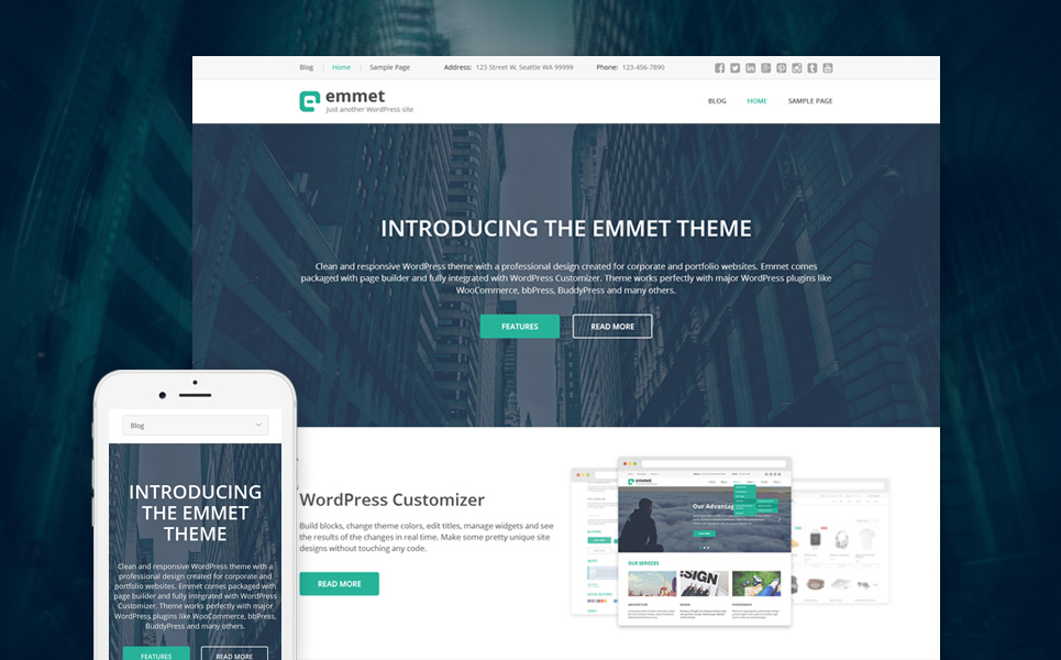 Emmet WordPress Theme #58779