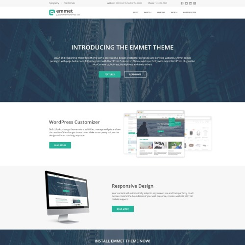 Emmet - Responsive WordPress Template