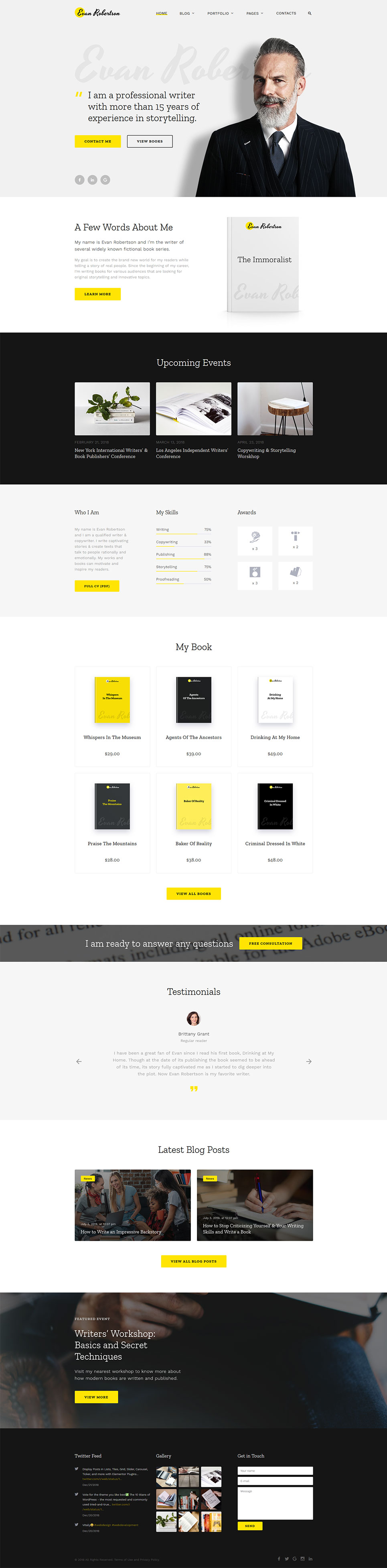 cv multipage html template