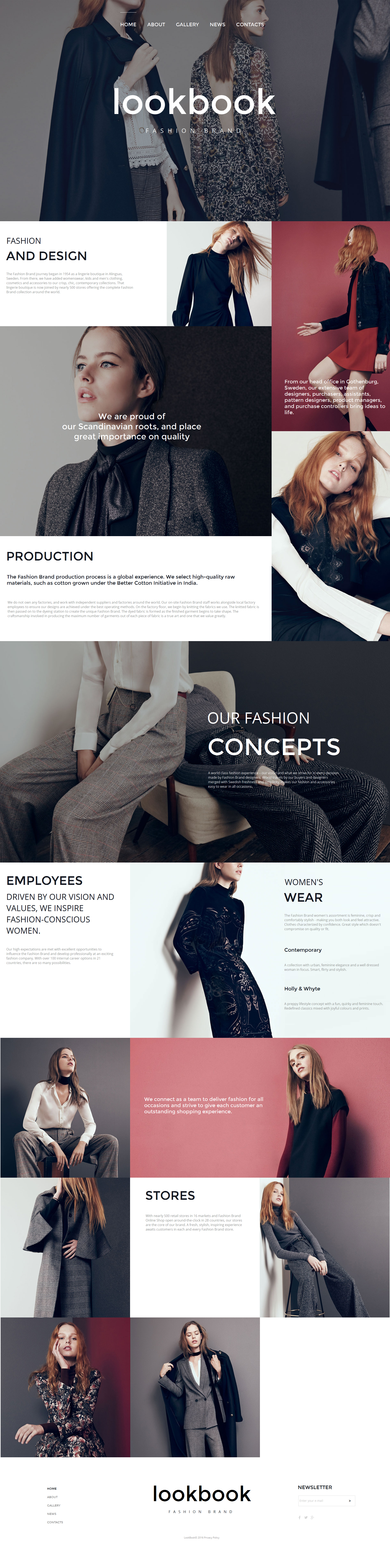 Fashion Moto CMS HTML Template