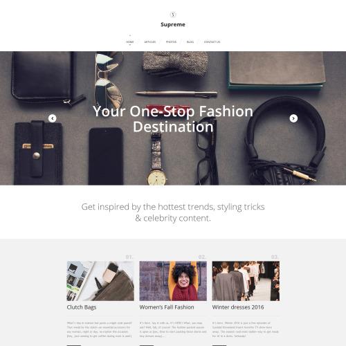 Supreme - Supreme Fashion Template based on Bootstrap