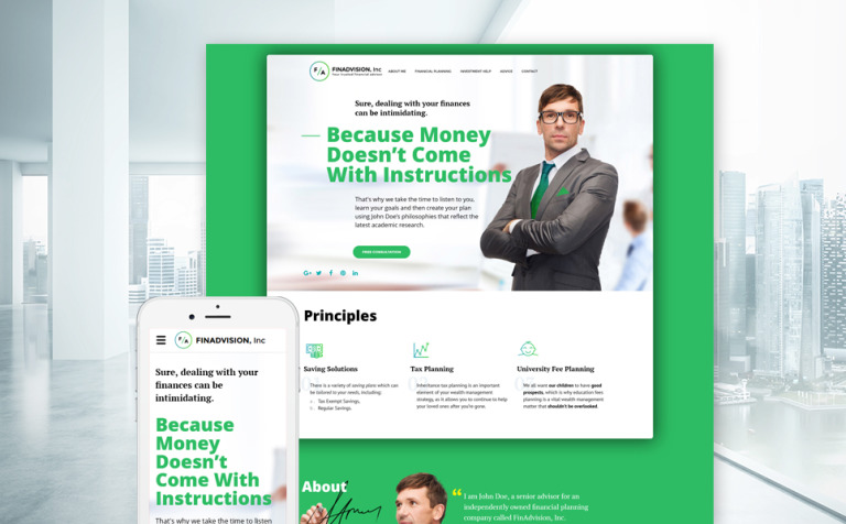 FinAdvision Inc Website Template