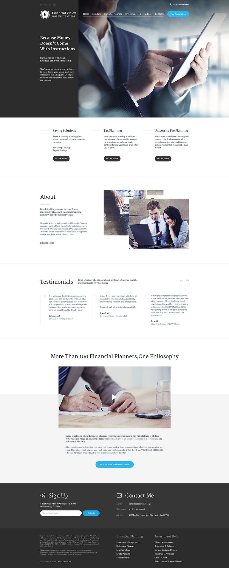 Financial Vision Website Template New Screenshots BIG