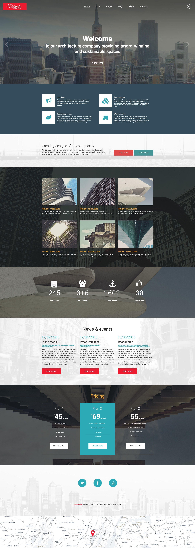Florencia Architecture Joomla Template - screenshot