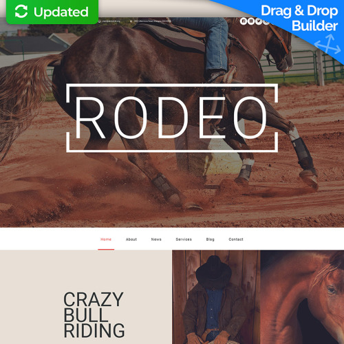 Rodeo - MotoCMS 3 Template based on Bootstrap