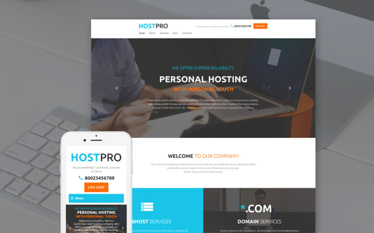 HostPro Website Template New Screenshots BIG