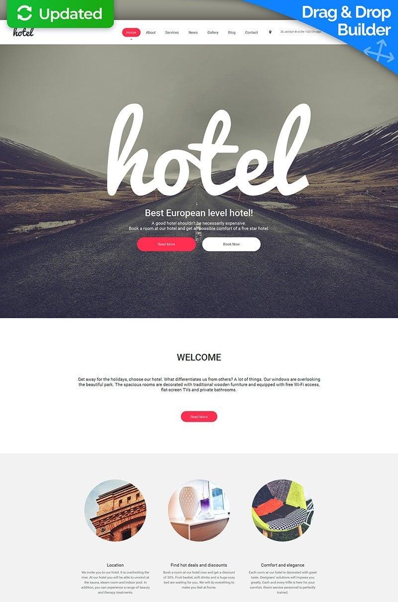 Hotel - Hospitality Moto CMS 3 Template