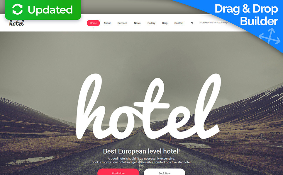 Hotels responsive moto cms 3 template 58765 for Hotel web design