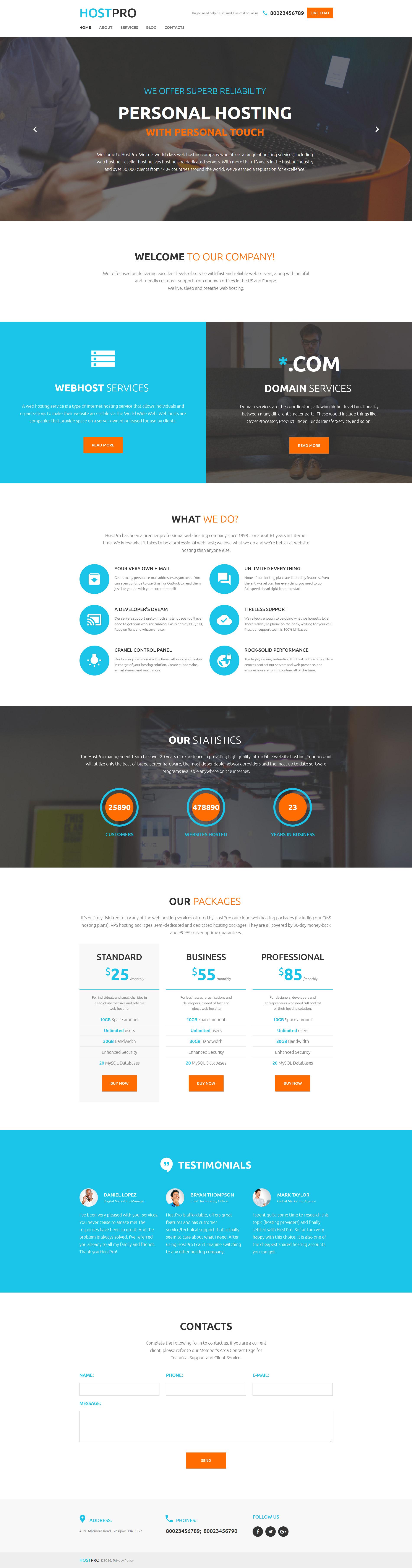 Шаблоны html хостинга дизайн сайта бесплатный хостинг и домен