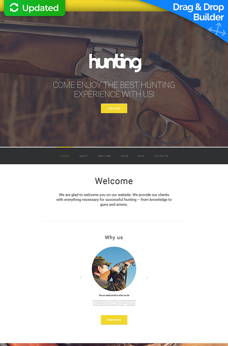 Hunting Responsive Moto CMS 3 Template