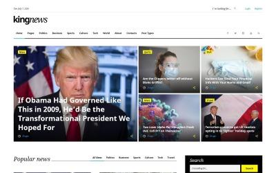 King News - многоцелевой HTML шаблон новостного сайта #58731