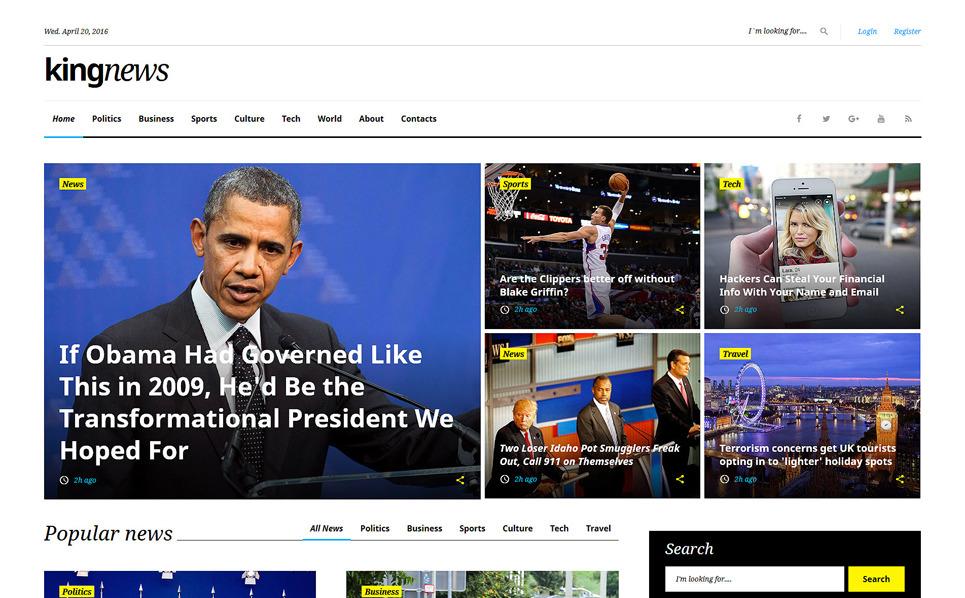 kingnews multipurpose html template. Black Bedroom Furniture Sets. Home Design Ideas