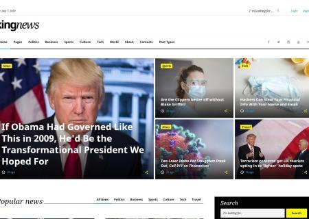 KingNews multipurpose HTML template