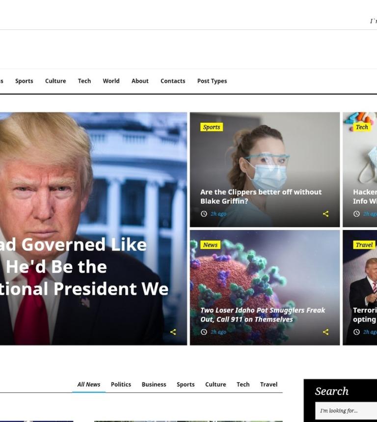 Plantilla Web #58731 para Sitio de Portal de Noticias