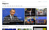 """King News"" Responsive Website template"