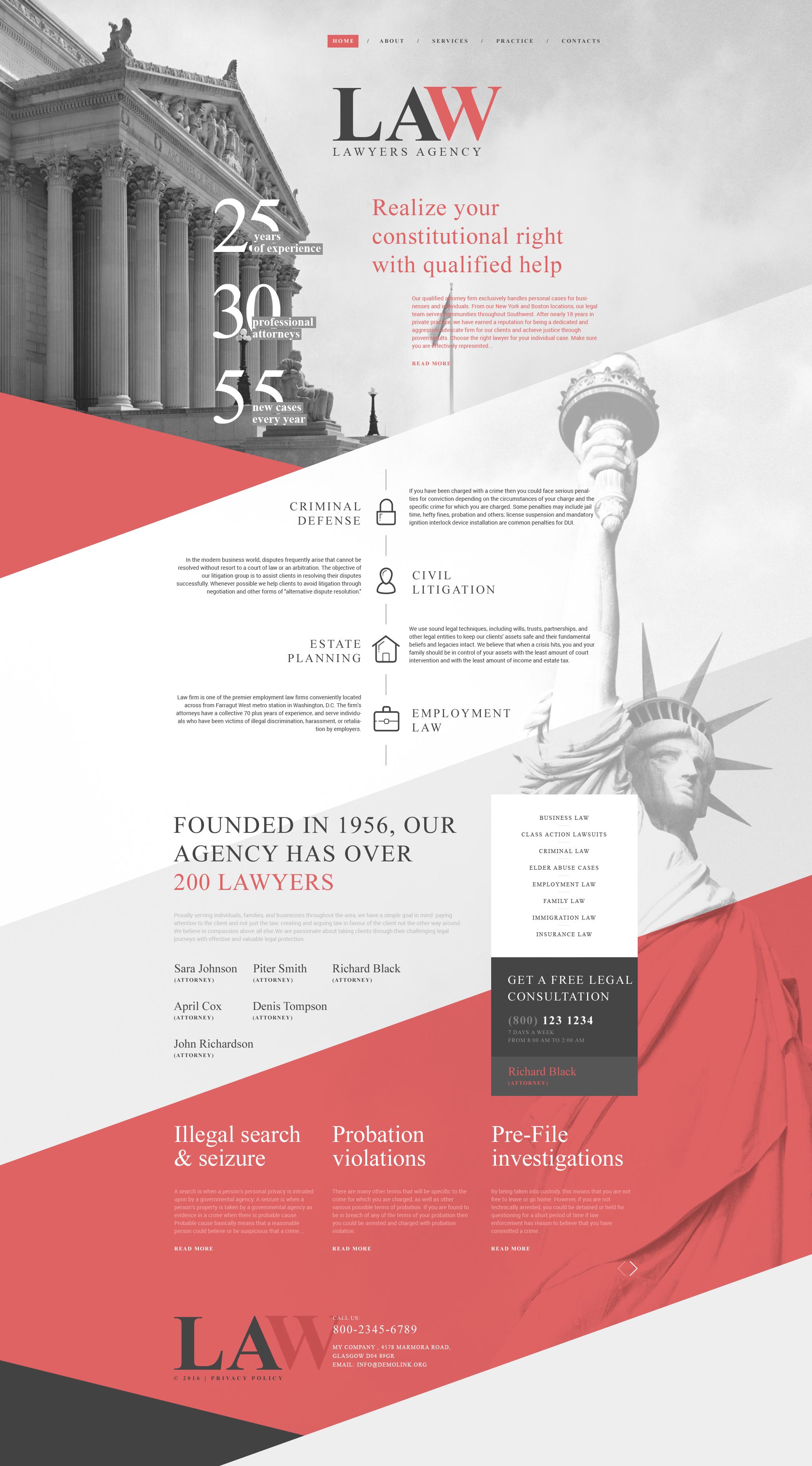 law firm responsive website template 58753. Black Bedroom Furniture Sets. Home Design Ideas