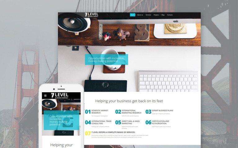 7 Level Website Template New Screenshots BIG