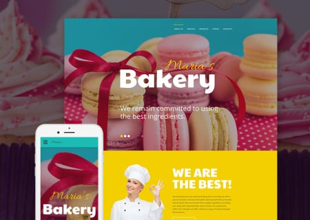 bakery site template