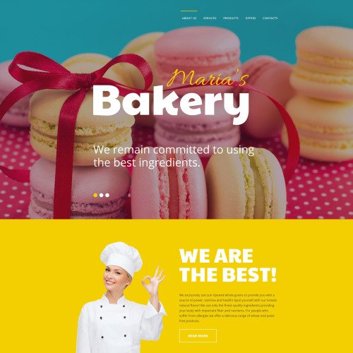Maria's Bakery - Responsive Website Template