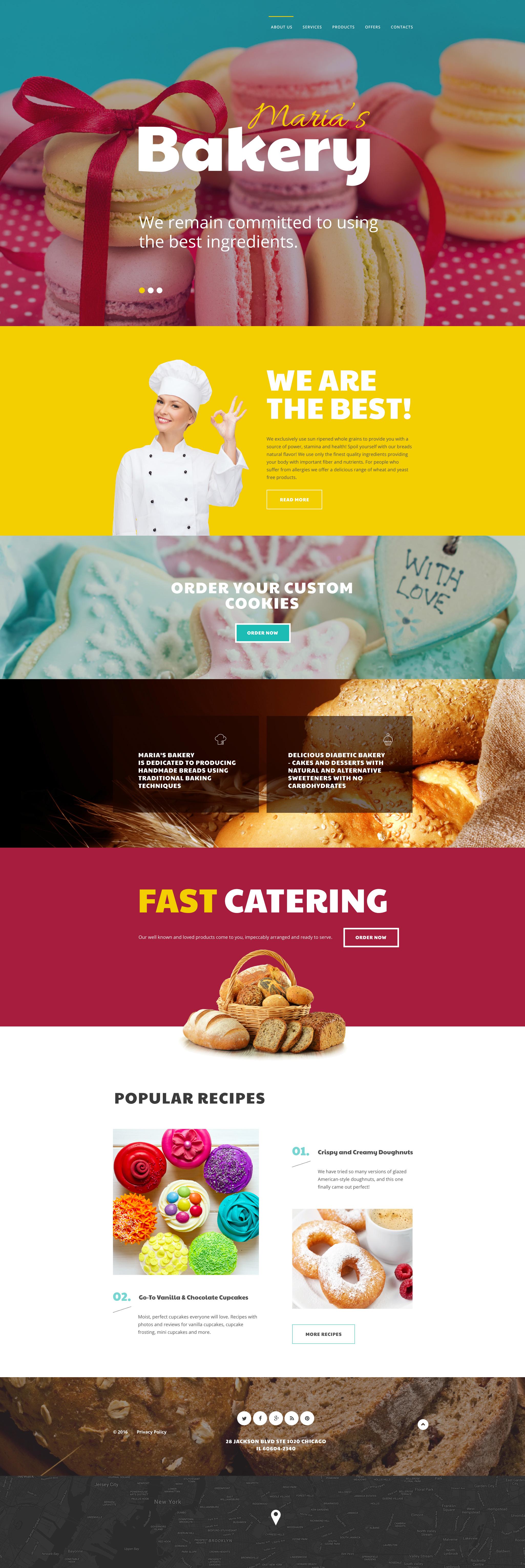 """Maria's Bakery"" 响应式网页模板 #58701 - 截图"