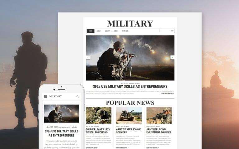 Military Responsive Website Template New Screenshots BIG