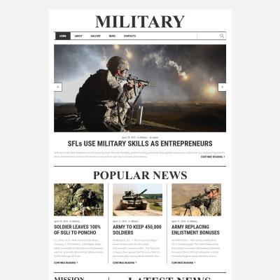 Modèle Web adaptatif  pour site militaire