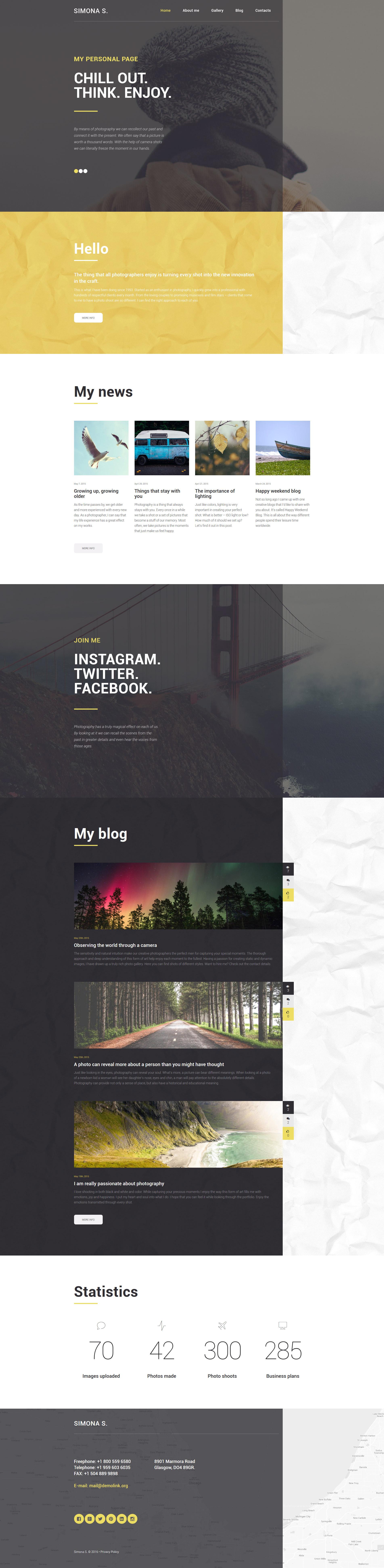 """Modello WordPress Responsive #58775 """"Simona S"""" - screenshot"""
