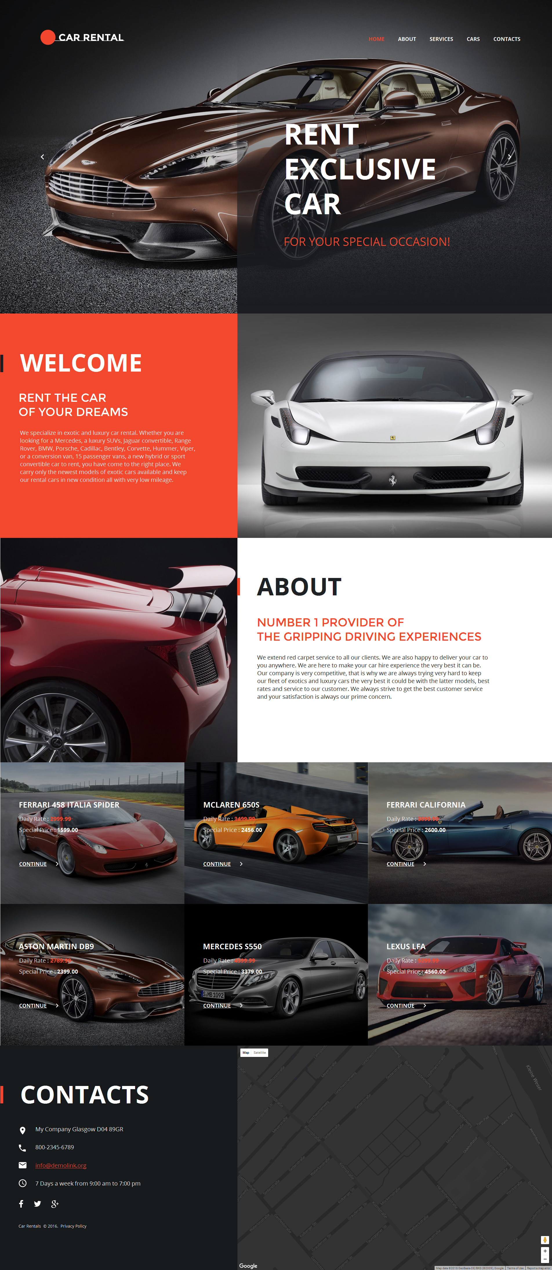 MotoCMS HTML шаблон №58747 на тему прокат авто
