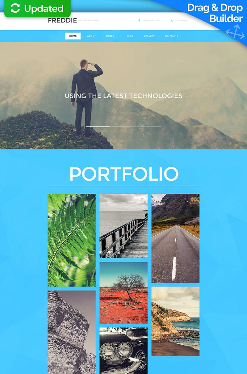 Photographer Portfolio Responsive Moto CMS 3 Template - screenshot