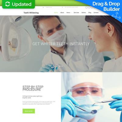 Responsive Plantilla Moto CMS 3  #58773 para Sitio de  para Sitio de Odontología