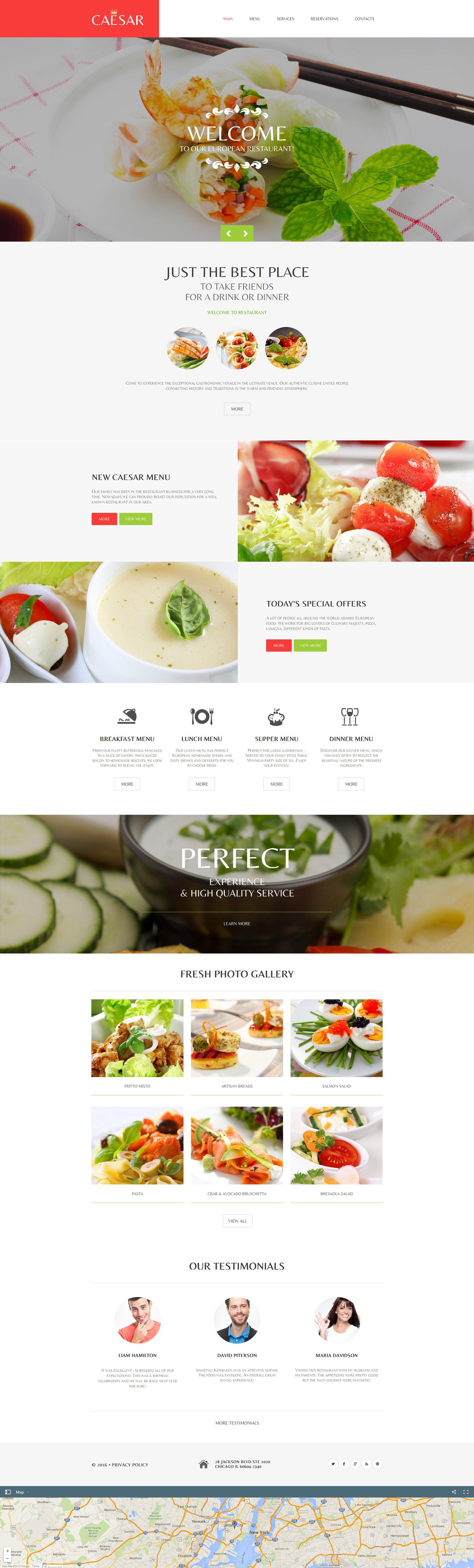 Plantilla Moto CMS HTML #58751 para Sitio de Cafeterías y Restaurantes