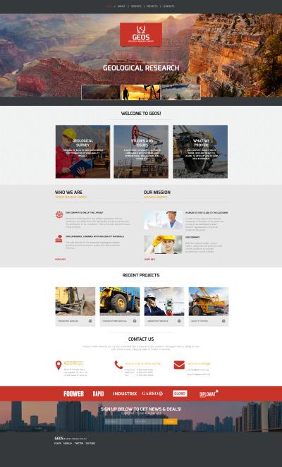 Plantilla Moto CMS HTML #58752 para Sitio de  para Sitio de Industria