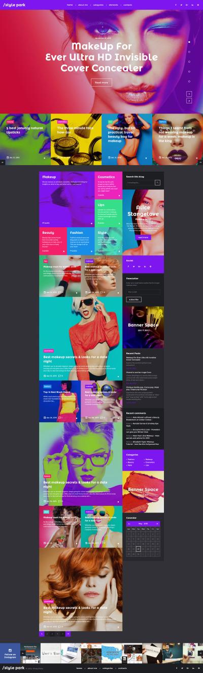 Responsive Plantilla Web #58736 para Sitio de  para Sitio de Moda