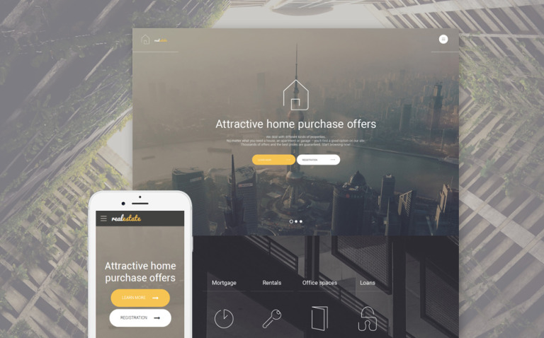 Real Estate Website Template New Screenshots BIG