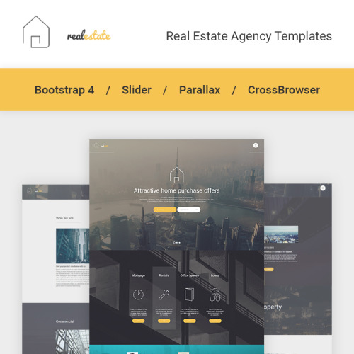 Real Estate - Website Template based on Bootstrap