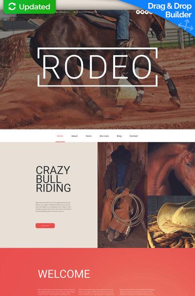 Horse Responsive Moto CMS 3 Template